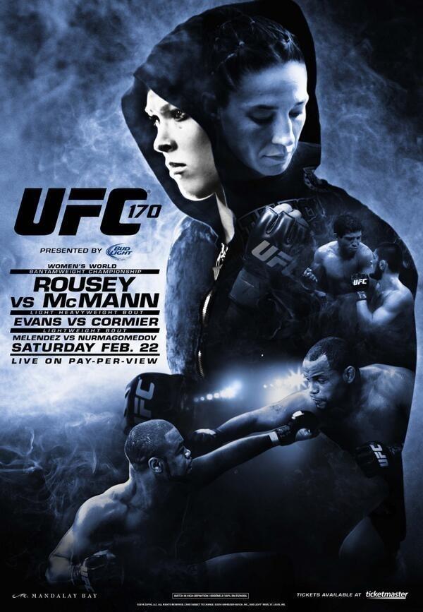 UFC 170 Poster